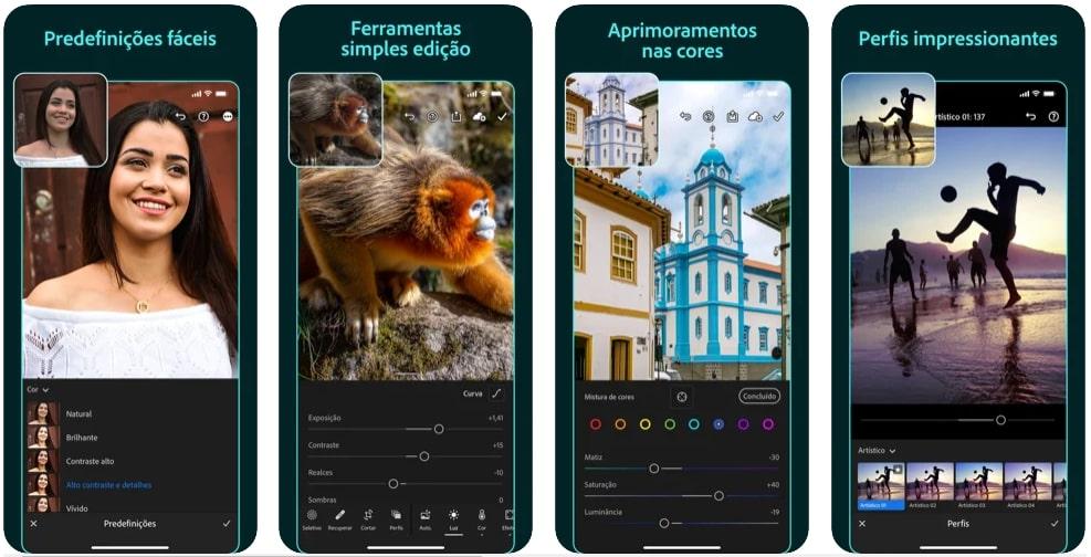 captura de tela Lightroom Mobile