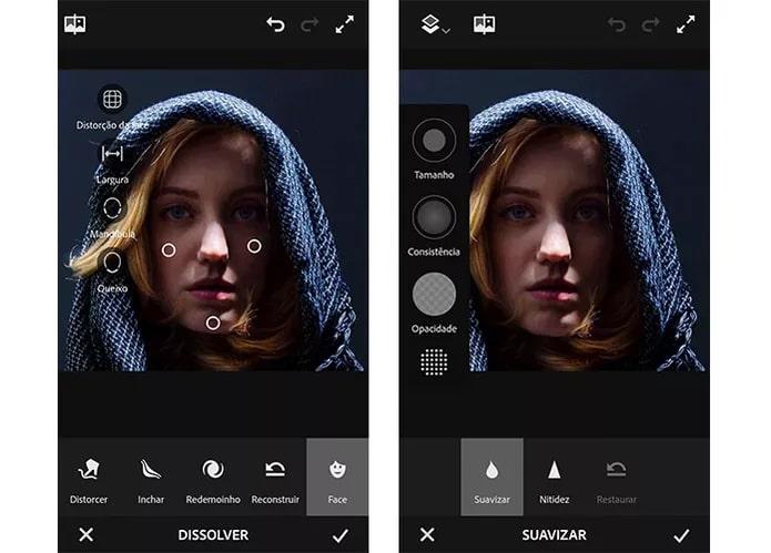 captura de tela Photoshop Fix
