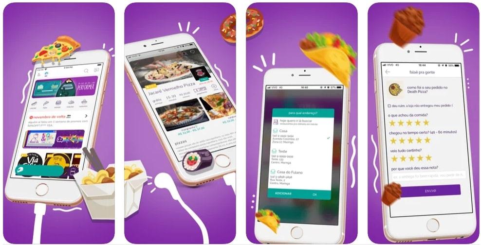 Capturas de tela do aplicativo Aiqfome