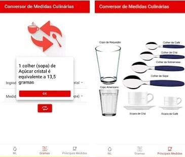 captura de tela do aplicativo Conversor de Medidas Culinárias