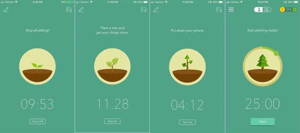 captura de tela do aplicativo Forest