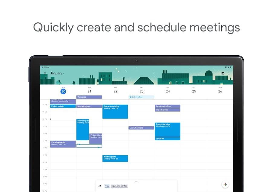 Calendário de atividades e eventos no Google Agenda