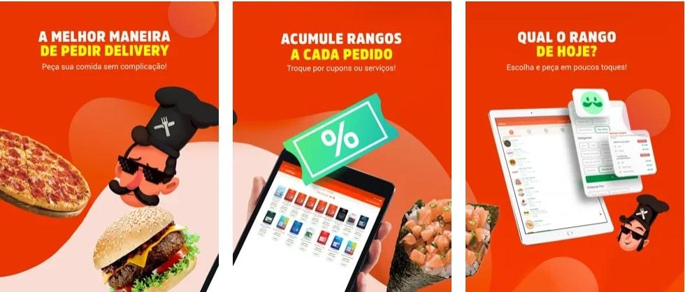 Capturas de tela do aplicativo UaiRango