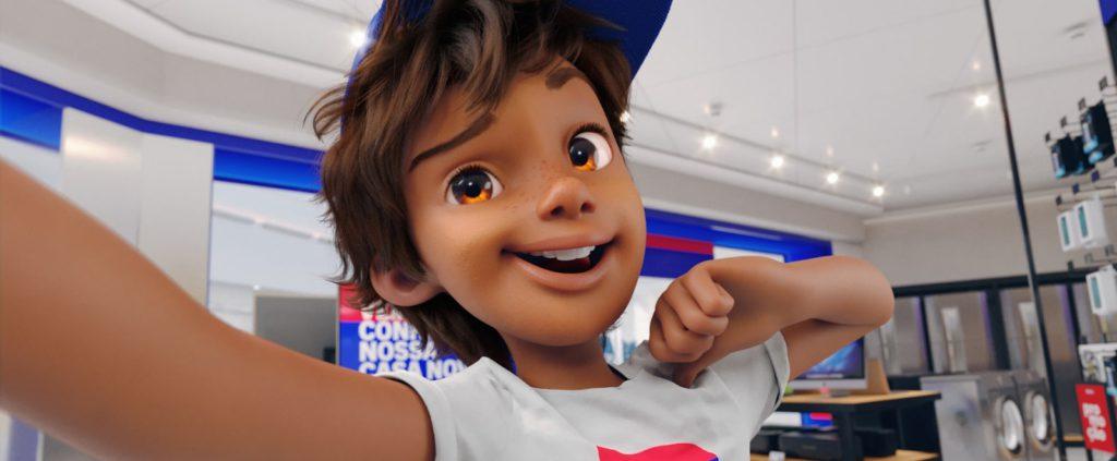 mascote virtual da casas Bahia