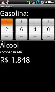 captura de tela do aplicativo EconoFlex